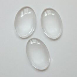 Üveg kaboson átlátszó ovális