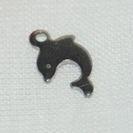 Nemesacél delfin alakú fityegő charm