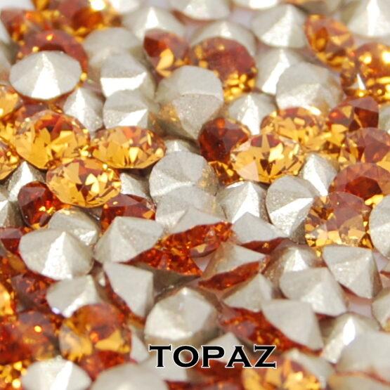 Swarovski kristály chaton Topaz