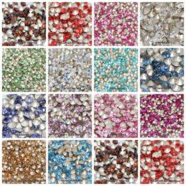 Swarovski kúpos hátú kristály PP10