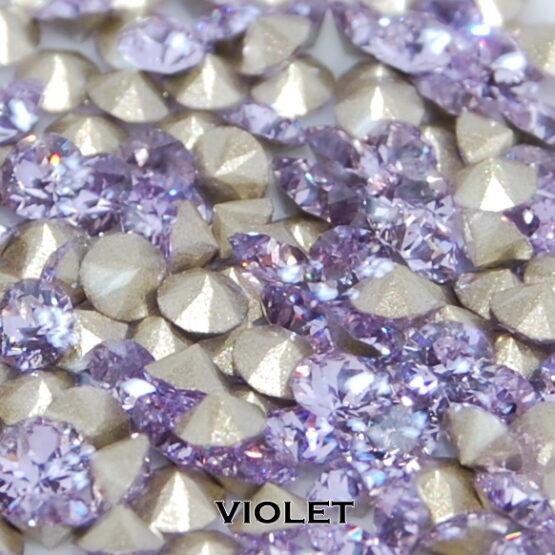 Swarovski kristály chaton Violet