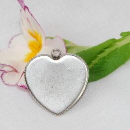 Nemesacél szív alakú medál alap