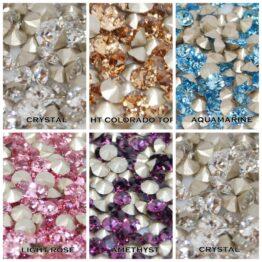 Swarovski kristály kúpos hátú chaton PP7