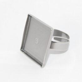 Nemesacél gyűrű alap négyzet