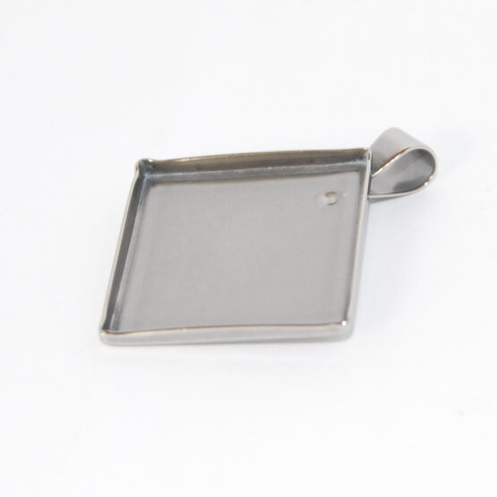 Stainless Steel Caboshon Pendant Tray Blanks Square
