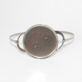 Stainless Steel Bangle Bracelet Blanks with round tray
