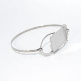 Stainless Steel Bangle Bracelet Blanks rectangular
