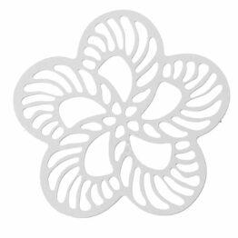 Nemesacél virág alakú charm fityegő