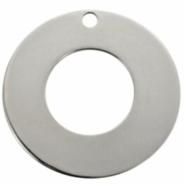 Nemesacél kör alakú charm fityegő stamping alap