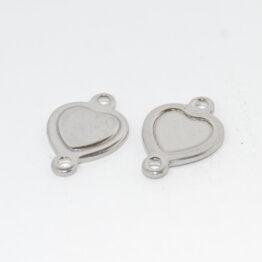 Nemesacél szív alakú összekötő elem