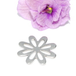Nemesacél virág alakú összekötő elem fityegő charm