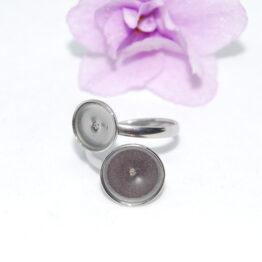 XS nemesacél dupla kaboson foglalatos gyűrű alap