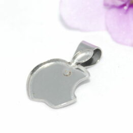 Nemesacél Apple alakú medál alap