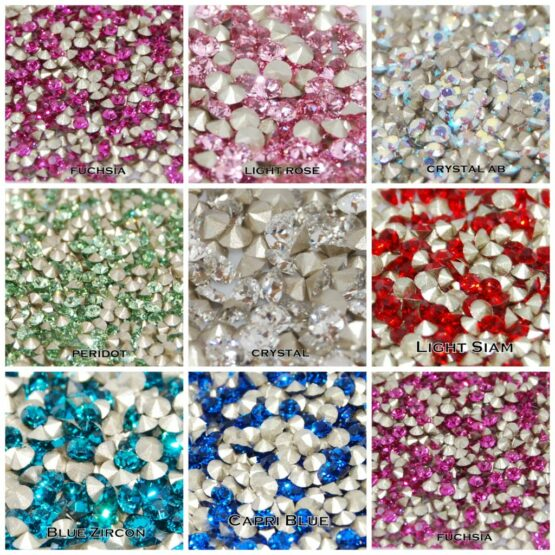 Swarovski kúpos hátú kristály chaton PP21