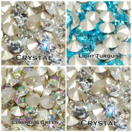 Swarovski kúpos hátú kristály chaton SS24