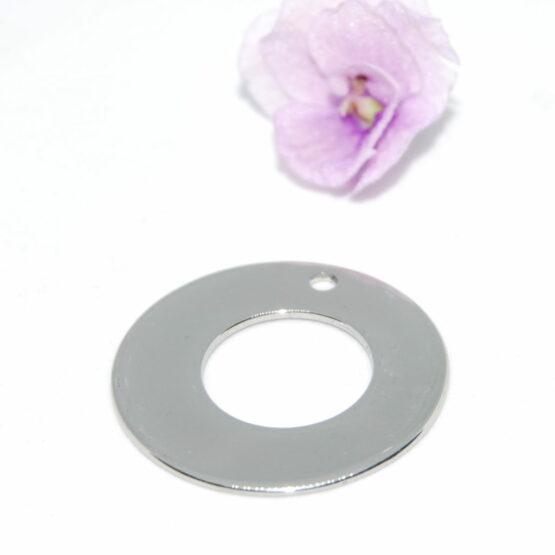 Nemesacél kör alakú charm fityegő stamping alap 30mm