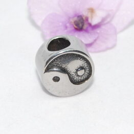 Nemesacél Pandora gyöngy Yin Yang