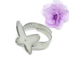 Nemesacél pillangós gyűrű alap