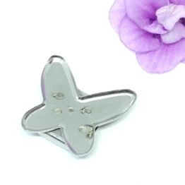 Nemesacél pillangó karkötő elem