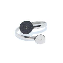 Nemesacél gyűrű alap dupla lapos ragasztható felülettel