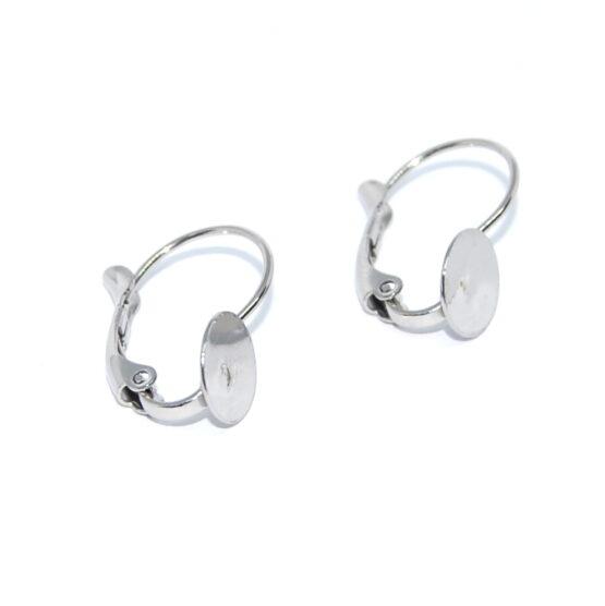 Nemesacél francia kapcsos fülbevaló lapos felülettel