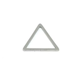 Nemesacél háromszög fityegő medál alap