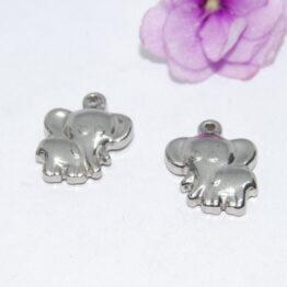 Nemesacél elefánt charm fityegő