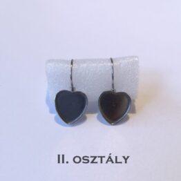Szív alakú nemesacél francia kapcsos fülbevaló alap II. osztály