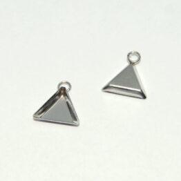 Háromszög alakú nemesacél medál alap
