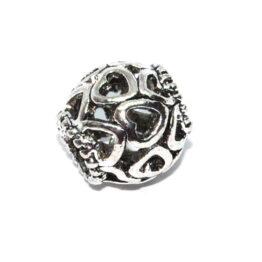 Ezüst színű szivecskés köztes gyöngy