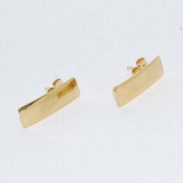 Arany színű téglalap nemesacél bedugós fülbevaló alap