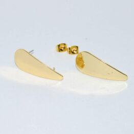 Arany színű csepp nemesacél bedugós fülbevaló alap