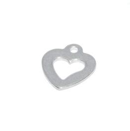 Nemesacél szív alakú charm fityegő II.