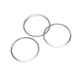Nemesacél egyszerű kör fityegő medál alap II