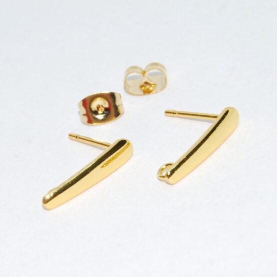 Nemesacél arany ék alakú fülbevaló alap bővíthető