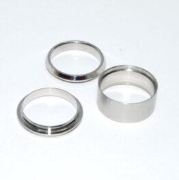 Nemesacél három részes gyűrű peremmel 9mm