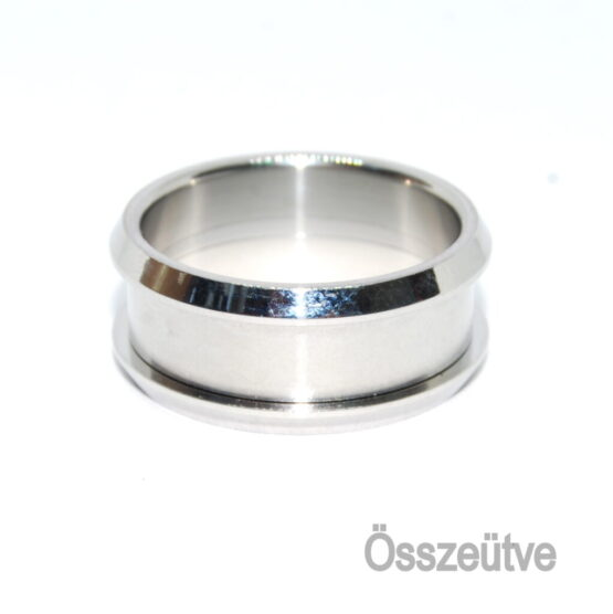 Nemesacél három részes gyűrű peremmel 5mm
