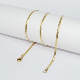Arany színű nemesacél lapos kígyólánc