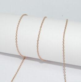 Rose Gold színű nemesacél lánc (többféle vastagságban)