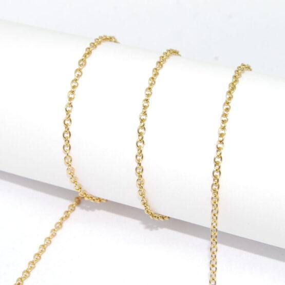 Arany színű nemesacél lánc
