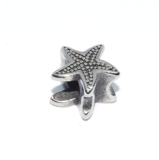 Nemesacél Pandora stílusú gyöngy tengeri csillag