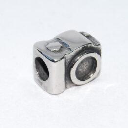 Nemesacél Pandora stílusú gyöngy fényképezőgép