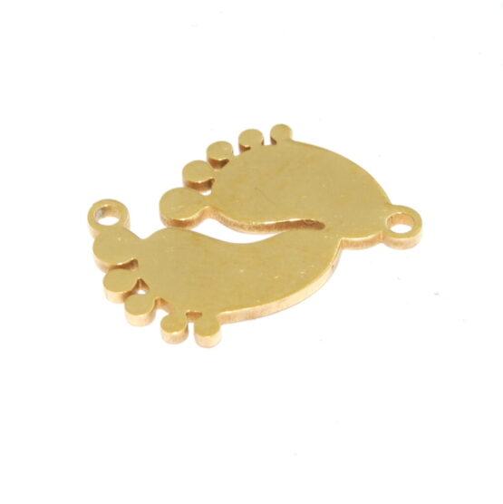 Nemesacél arany színű baba talp összekötőelem